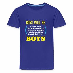 boy tee final - Kids' Premium T-Shirt