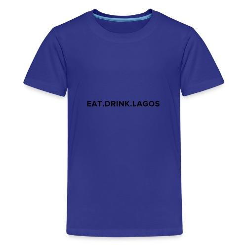 Eat.Drink.Lagos Logo Shirt - Kids' Premium T-Shirt