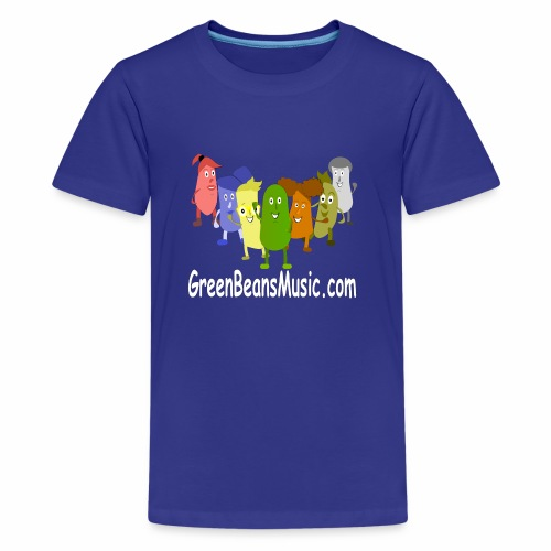 Green Bean's Music Apparel White Logo - Kids' Premium T-Shirt