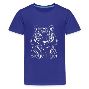 Siege Tiger White - Kids' Premium T-Shirt