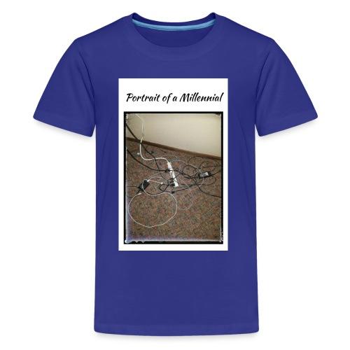 Portrait of a Millennial - Kids' Premium T-Shirt
