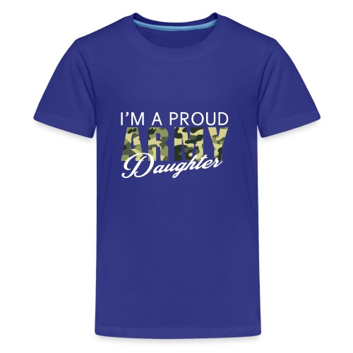 Great Gift For Daughter. Shirt For Army Daughter - Kids' Premium T-Shirt