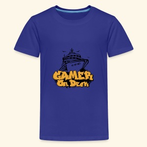 Gamer On Deck Graphic - Version 1-2 - Kids' Premium T-Shirt