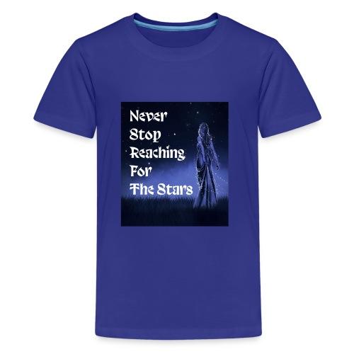 Never stop reaching for the stars - Kids' Premium T-Shirt