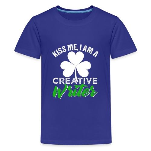 Kiss Me I Am A Creative Writer - Kids' Premium T-Shirt