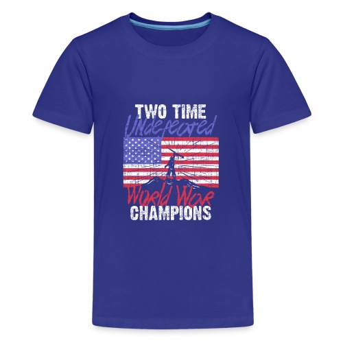 RETIRED ARMY: Undefeated War Champs - Kids' Premium T-Shirt