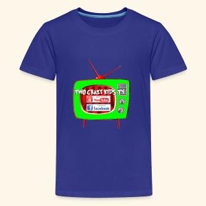 Two Crazy Kids TV Logo - Kids' Premium T-Shirt