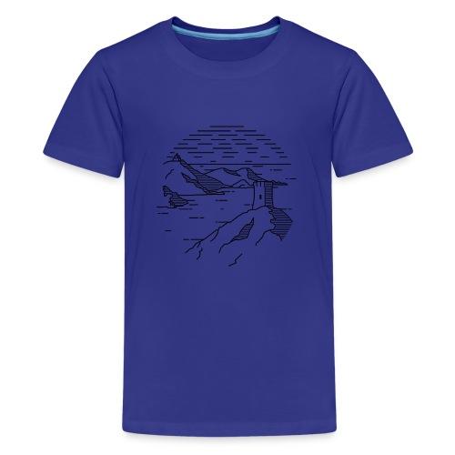 Line landscape - Sea - Kids' Premium T-Shirt