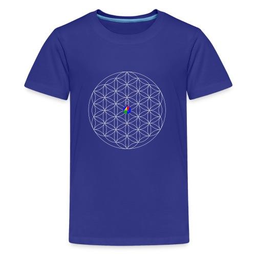 1200px-Flower-of-Life__aop-logo_dark - Kids' Premium T-Shirt