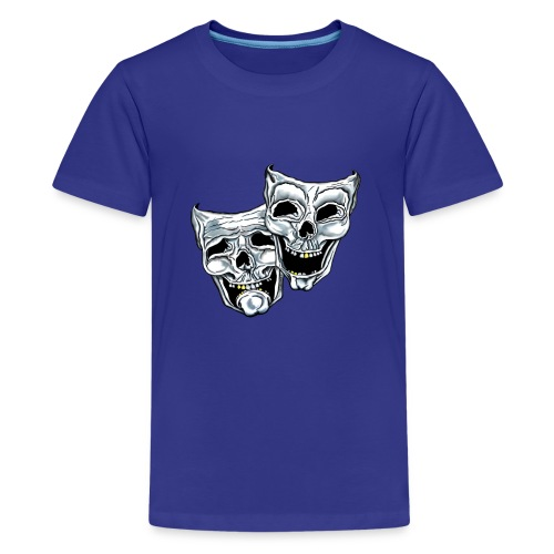 COMEDY TRAGEDY SKULLS - Kids' Premium T-Shirt