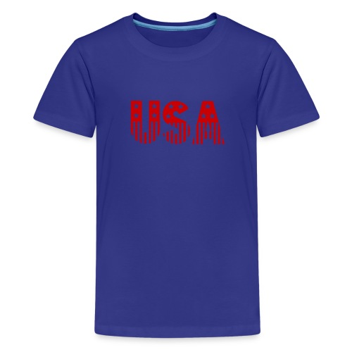 USA in red - Kids' Premium T-Shirt
