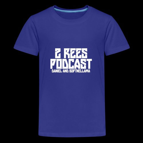 2 REES Podcast Logo (White) - Kids' Premium T-Shirt