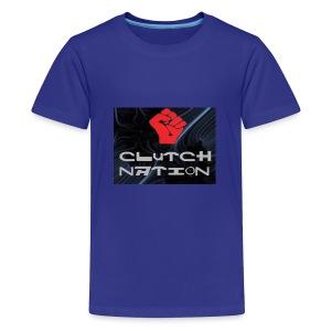 clutchnation logo merch - Kids' Premium T-Shirt