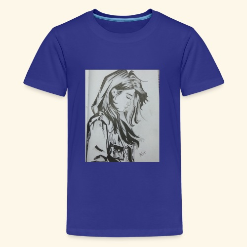 pretty lady - Kids' Premium T-Shirt