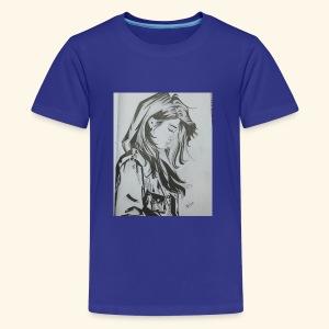 pretty lady - Kids' Premium T-Shirt