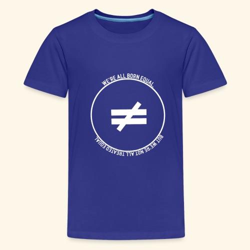 Stay True-White Logo - Kids' Premium T-Shirt