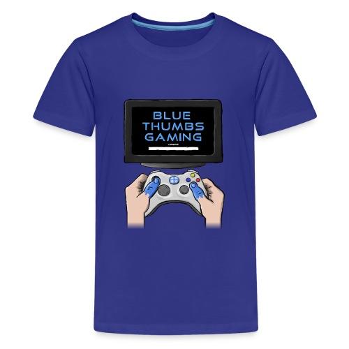 Blue Thumbs Gaming: Gamepad Logo - Kids' Premium T-Shirt