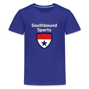 The Southbound Sports Shield Logo. - Kids' Premium T-Shirt