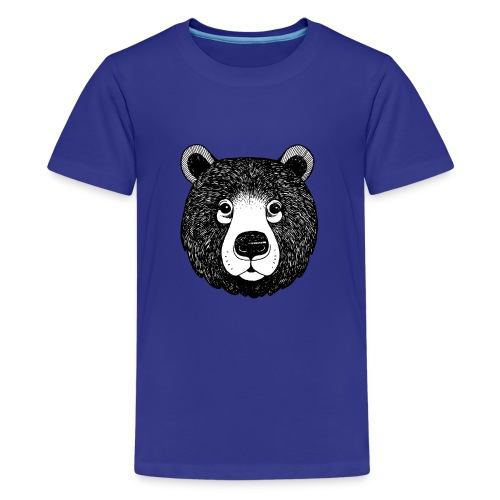 The head of bear - Kids' Premium T-Shirt