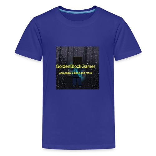 GoldenBlockGamer Tshirt - Kids' Premium T-Shirt