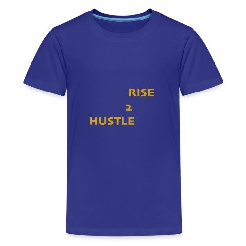 Hustle2Rise Gold up - Kids' Premium T-Shirt