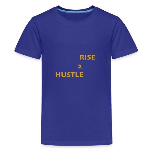 Hustle2Rise Gold up - Kids' Premium T-Shirt