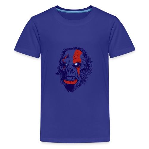 t shirt design 26 gorilla kratos by marekpl d - Kids' Premium T-Shirt