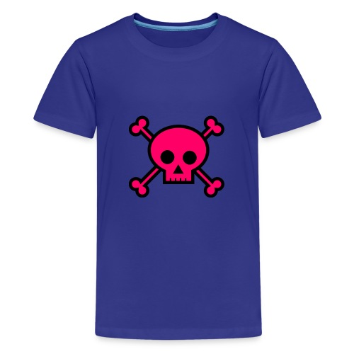 pink skull - Kids' Premium T-Shirt