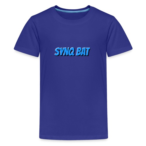 SynQ Bat - Cartoon Logo - Kids' Premium T-Shirt