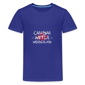 Canadian Winter Wonderland - Kids' Premium T-Shirt
