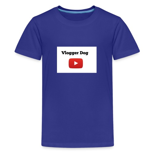 Vlogger Dog iphone case and samsung case. - Kids' Premium T-Shirt