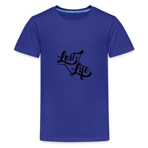 Lost in Life Black on Light logo small - Kids' Premium T-Shirt
