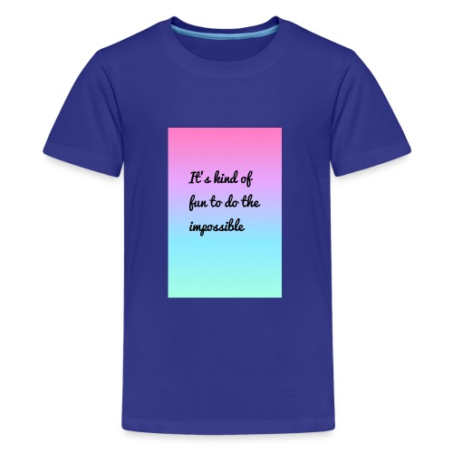 It's Kind Of Fun To Do The Impossible Ombré Shirt - Kids' Premium T-Shirt