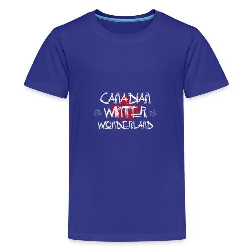 Canadian Winter Wonderland - Kids' Premium T-Shirt