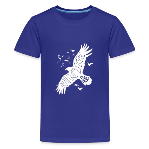 Winter Raven Funny - Kids' Premium T-Shirt