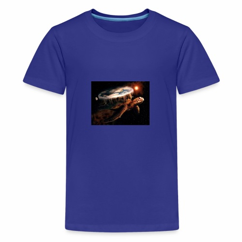 turtlecarryingtheworld - Kids' Premium T-Shirt