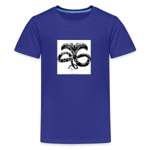 royalty free black and white viper logo by vector - Kids' Premium T-Shirt