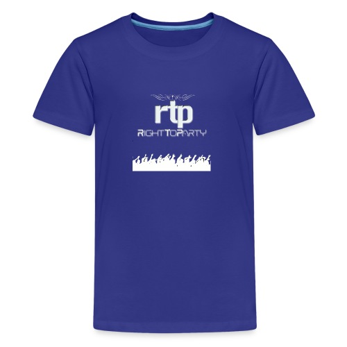 RTP Crowd LOGO White - Kids' Premium T-Shirt