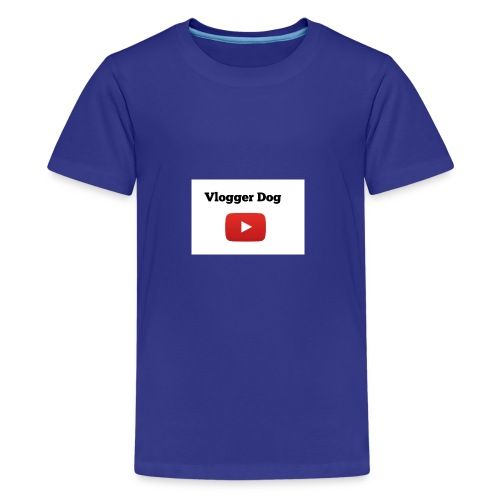 Vlogger Dog iphone case and samsung case. - Kids' Premium T-Shirt