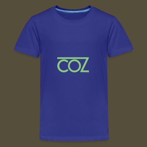 coz_logo_lightgreen - Kids' Premium T-Shirt