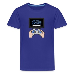 Blue Thumbs Gaming: Gamepad Logo - Kids' Premium T-Shirt