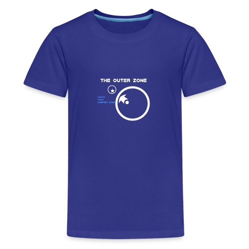 The Outer Zone Logo White - Kids' Premium T-Shirt