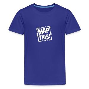 MapThis! White Stamp Logo - Kids' Premium T-Shirt