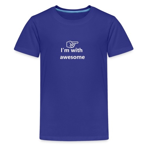 I'm With Awesome White - Kids' Premium T-Shirt
