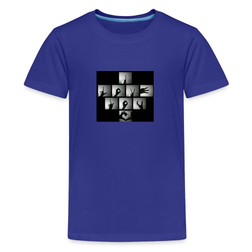 i love u hand imag wallpaper 105187188 - Kids' Premium T-Shirt