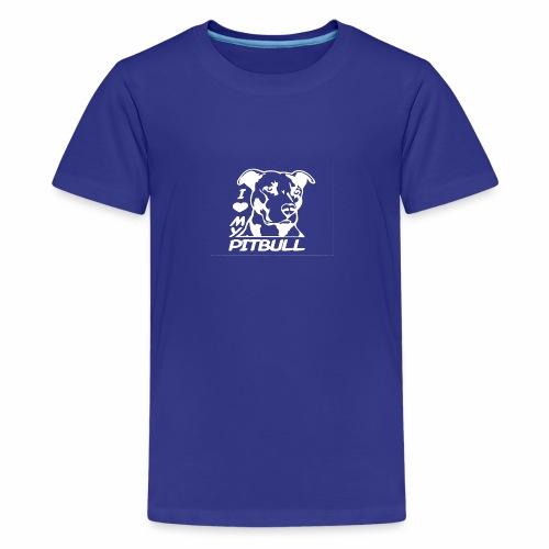 I love pit bulls - Kids' Premium T-Shirt