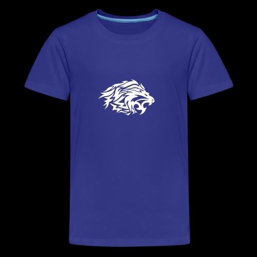 lion white - Kids' Premium T-Shirt