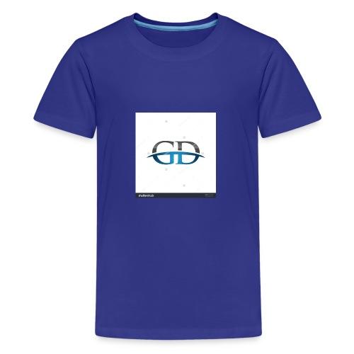 stock vector gd initial company blue swoosh logo 3 - Kids' Premium T-Shirt
