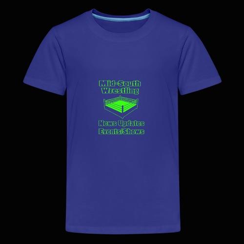 Mid-South Wrestling News Neon/Lime Green - Kids' Premium T-Shirt