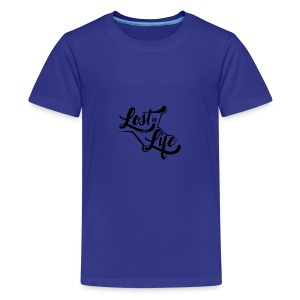 Lost in Life Black on Light logo small - Kids' Premium T-Shirt